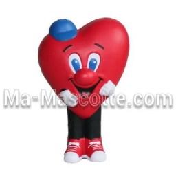 Fabrication figurine antistress sur mesure coeur. Antistress mousse personnalisé.