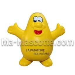 Fabrication figurine antistress sur mesure pomme de terre. Antistress mousse personnalisé.
