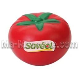 Fabrication figurine antistress sur mesure tomate. Antistress mousse personnalisé.