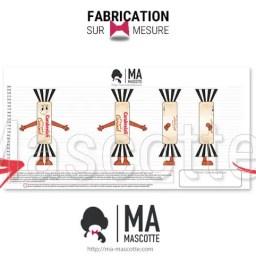 Fabrication Costume Mascotte Sur Mesure caramel carabreizh. Mascotte Marketing.