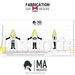 Fabrication Costume Mascotte Sur Mesure endive perle du nord. Mascotte Marketing.