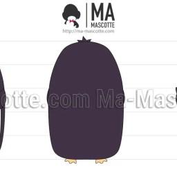 Design 3D Peluche Sur Mesure Pingouin. Création graphique Peluche.
