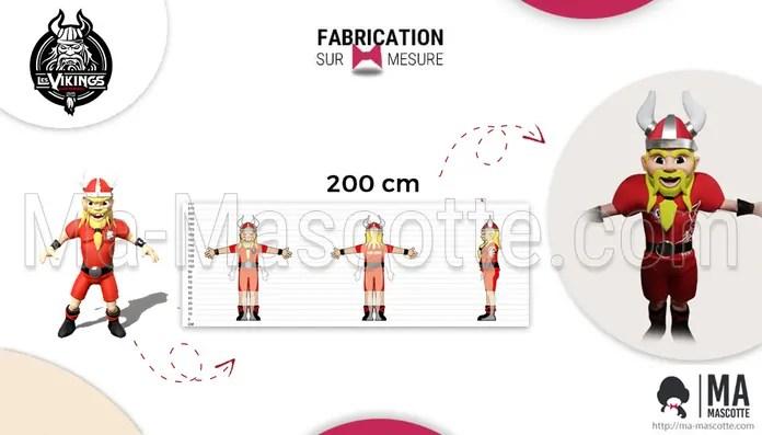 Mascotte sur mesure viking handball