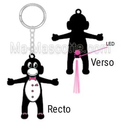 fabrication porte clés led sur mesure