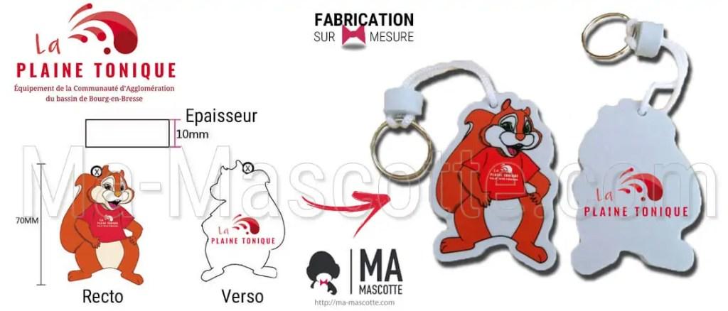 fabrication porte-clés sur mesure mousse eva écureuil