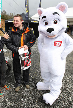 mascotte sur mesure ours blanc BIHR