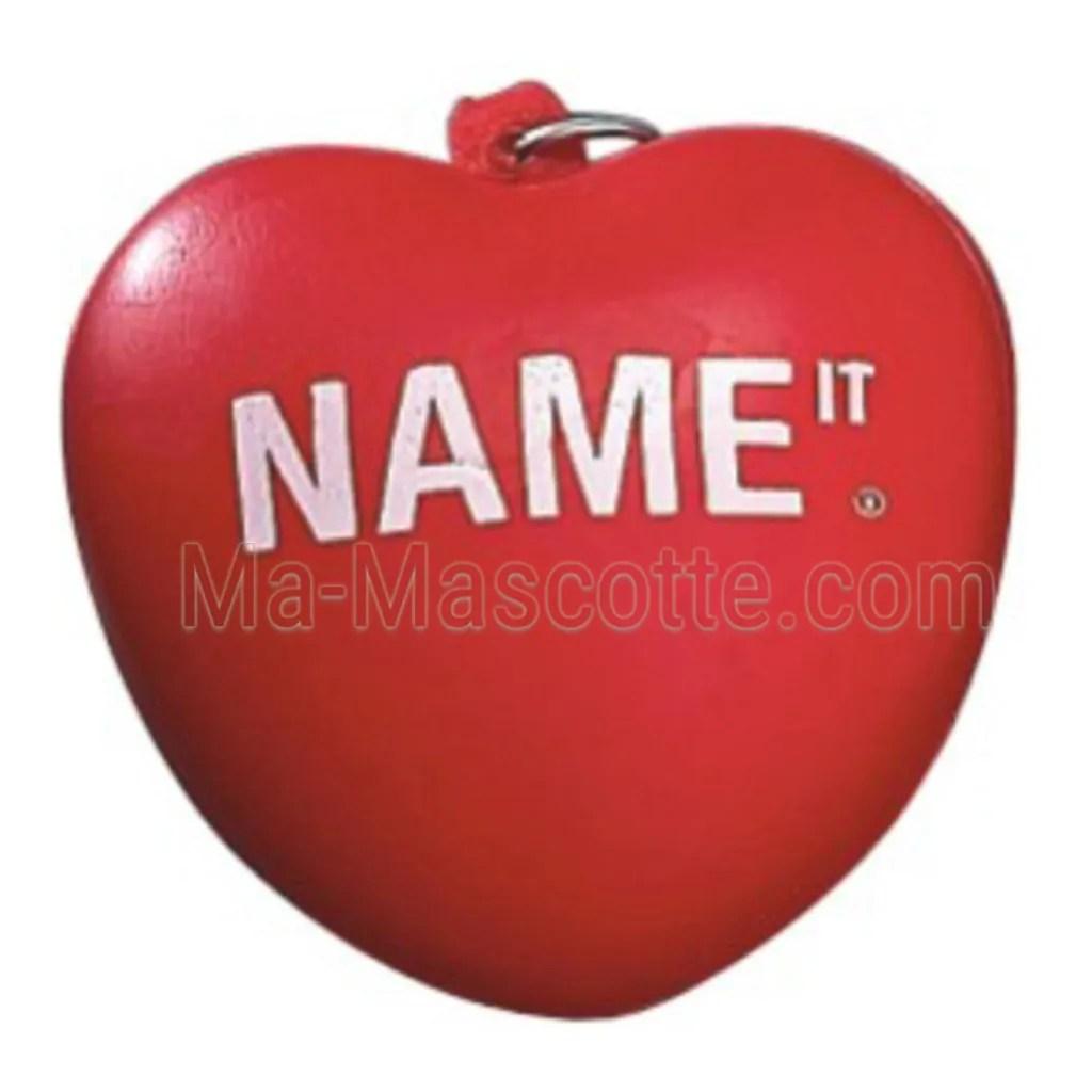 Antistress porte clés en forme de coeur avec logo