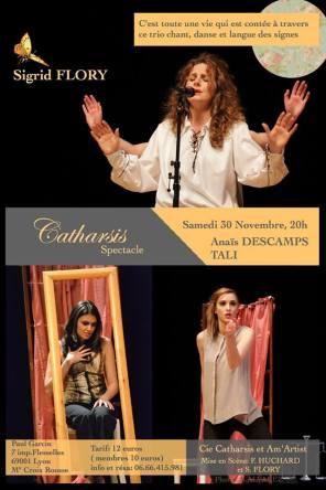 l'affiche du spectacle Carthasis de Sigrid Flory