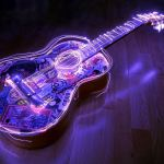 Une guitare illuminée pour des artistes internationaux