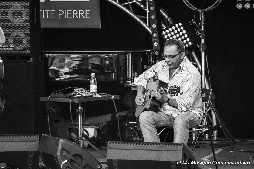 concert de Birél iLagrène au festival Au Grès du Jazz 2017 avec Kyle Eastwood et Jean-Luc Ponty