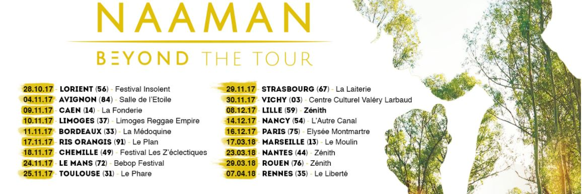 dates de concerts français de l'artiste de reggae Naâman