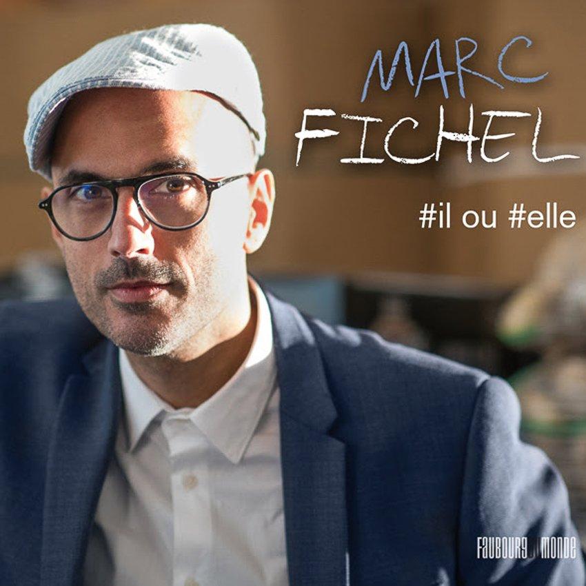 """pochette de l'Ep de Marc Fichel """"#il ou #elle"""""""
