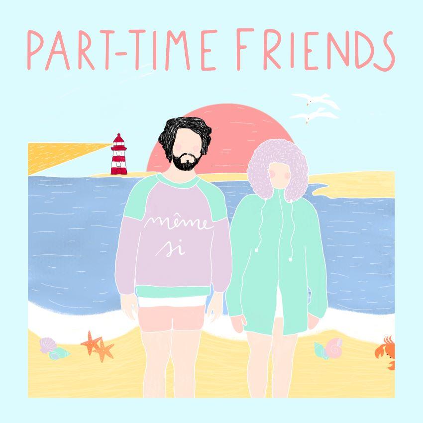 """pochette du titre """"Même Si"""" du duo Part-Time Friends"""