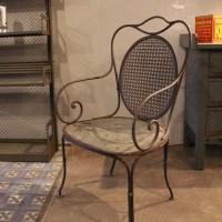Industrial furniture - Old metal garden chair 30s