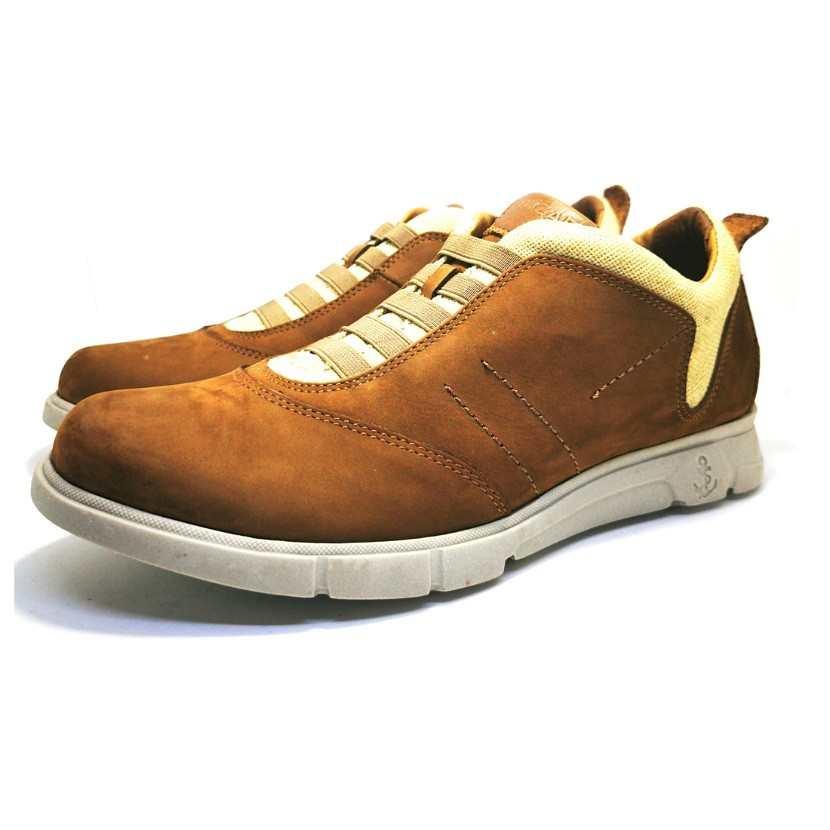 Chaussure de ville ACAFIO-Confort pour homme taba