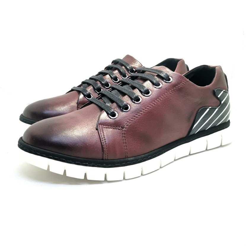 Chaussure homme de style Basket THOWS-Confort pour homme bordeaux