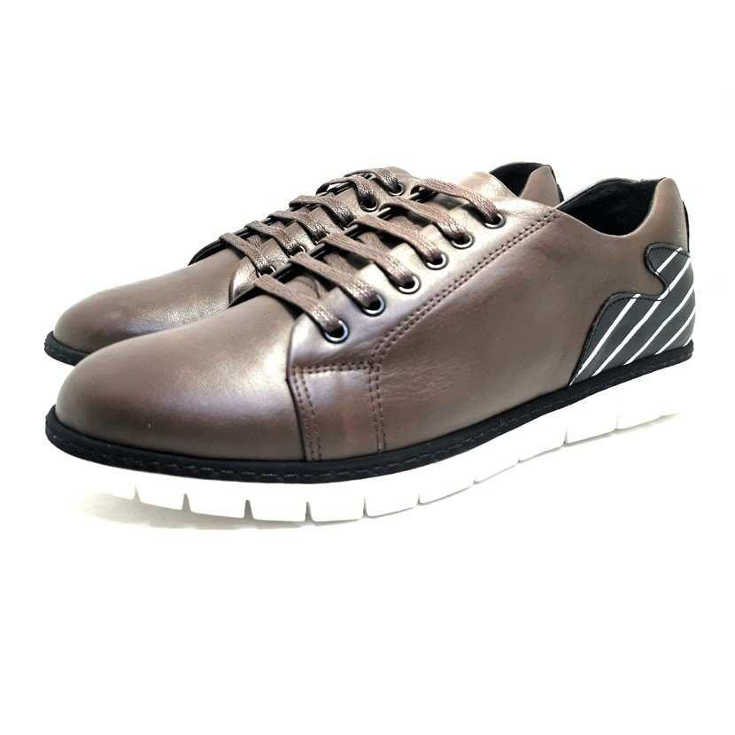 Chaussure homme de style Basket THOWS-Confort pour homme marron