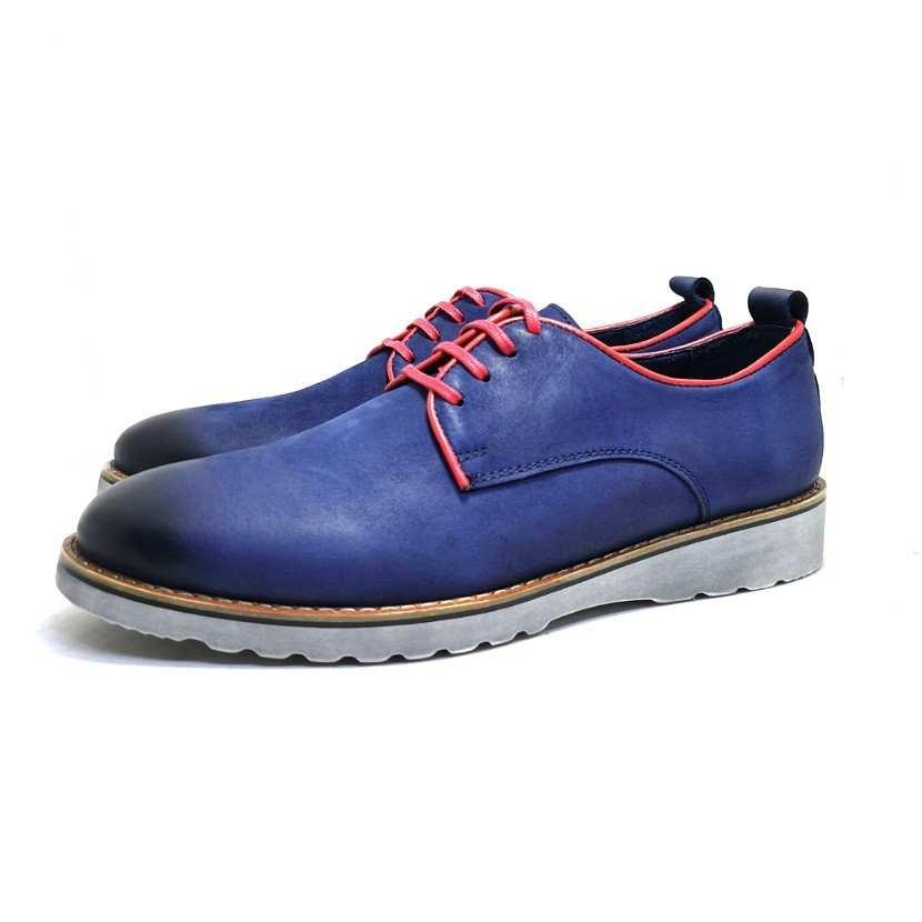 chaussure richelieu Buck bleu