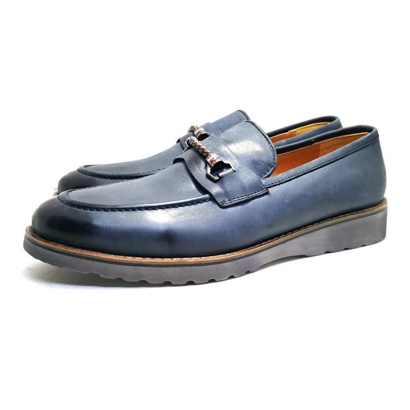 chaussure richelieu Bucky bleu