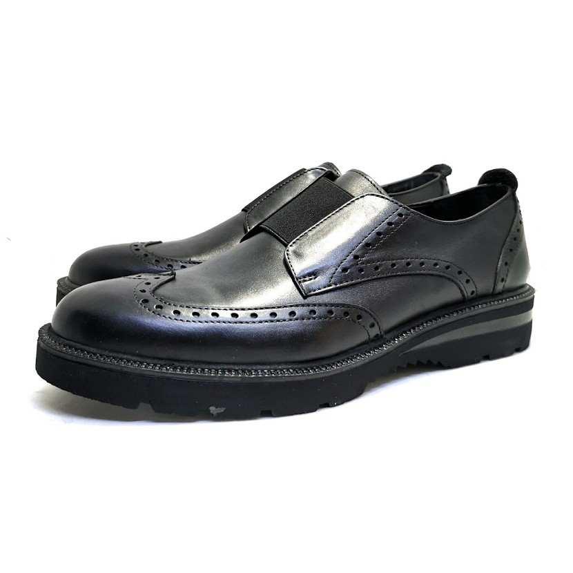 chaussure richelieu cranté noir