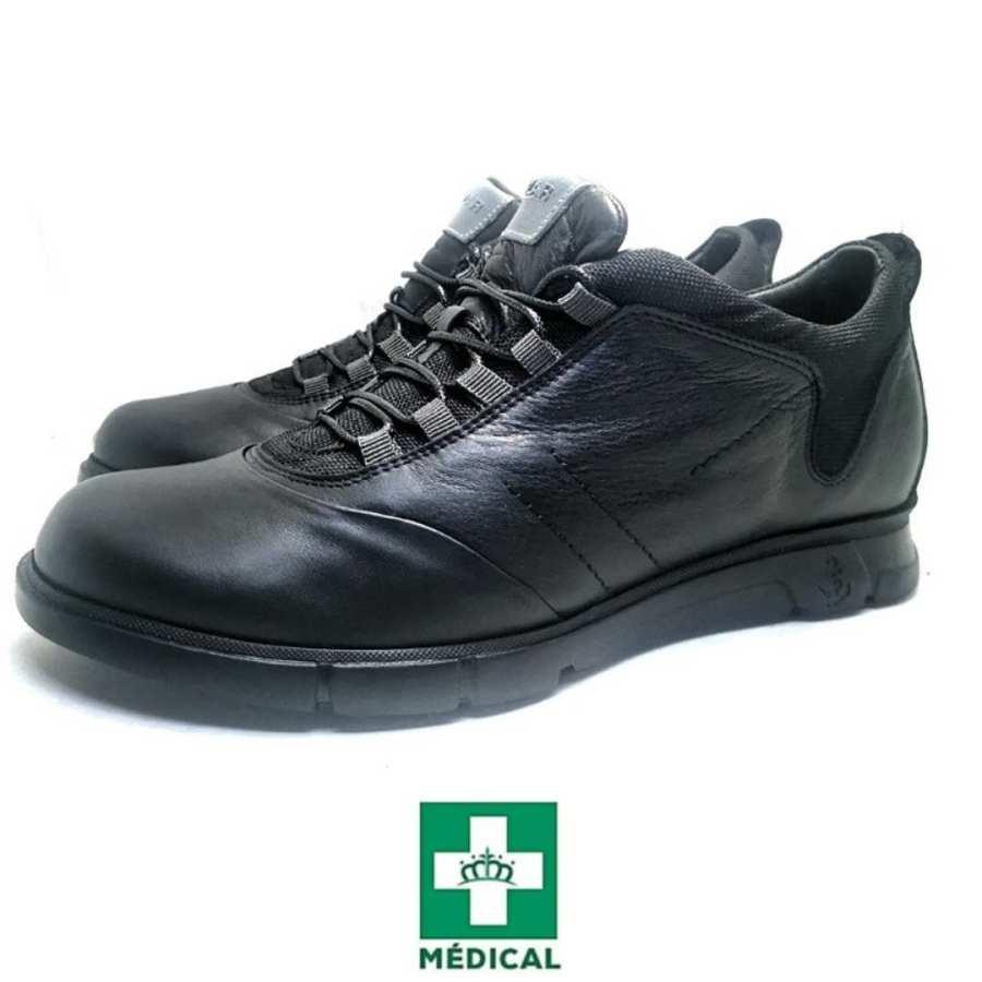 Chaussure de ville Clow-Confort pour homme noir
