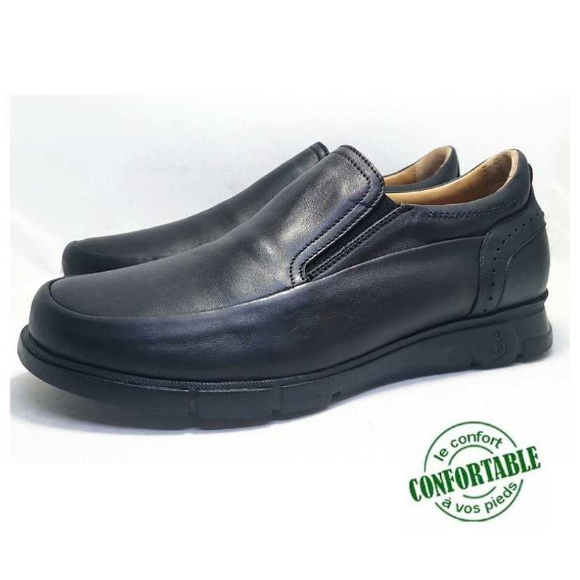 Chaussure médical DressT-Confort pour homme noir