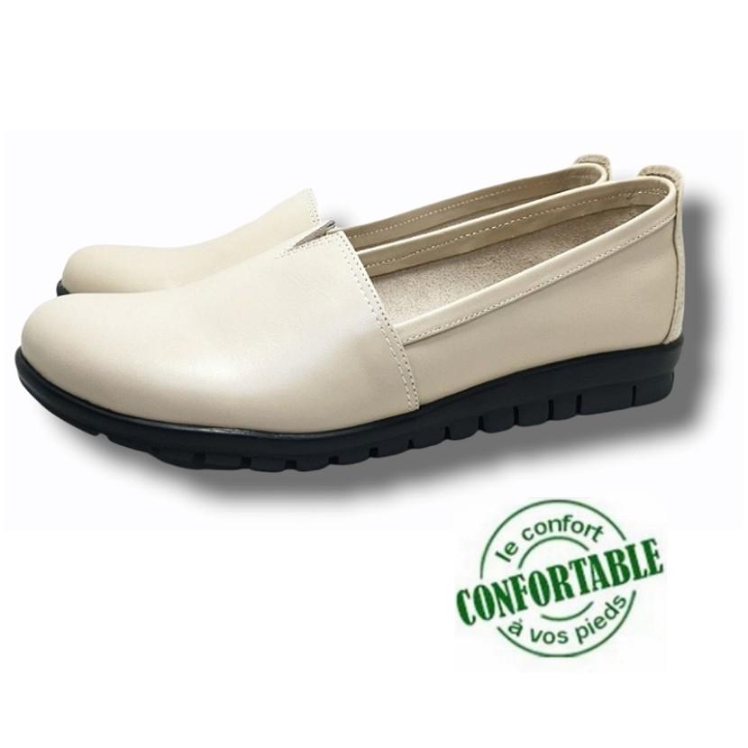 chaussure médical zino beige pour femme
