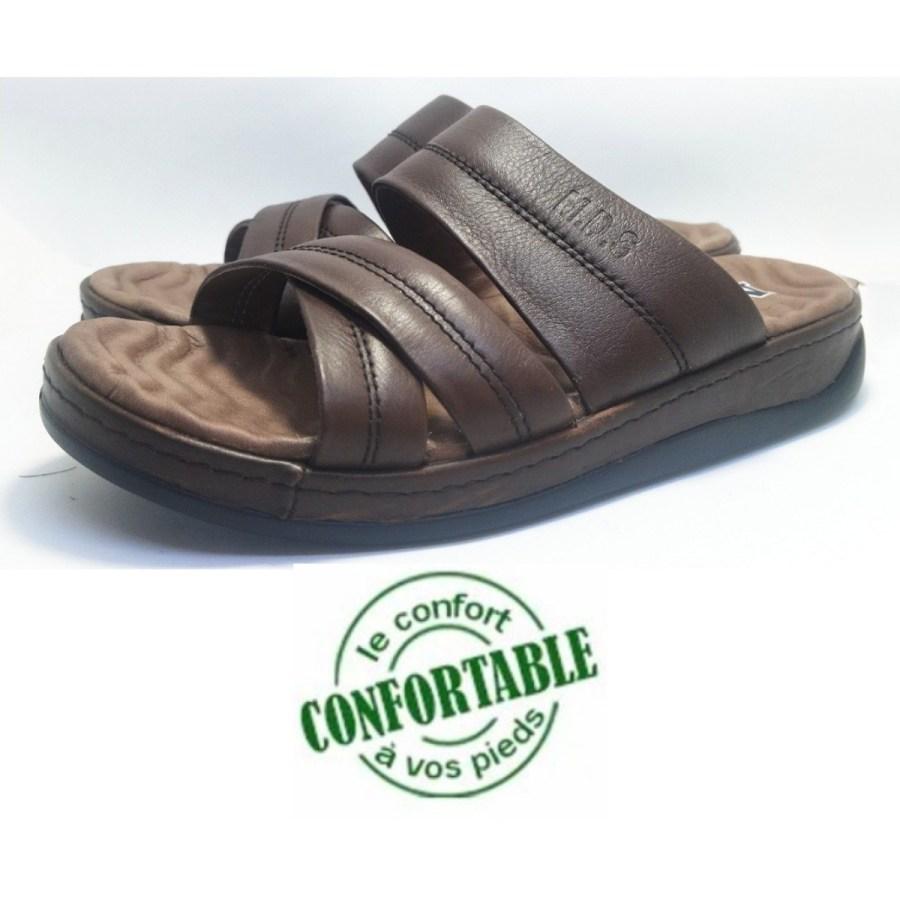sandale médical REPOLDERZ marron-foncé pour homme