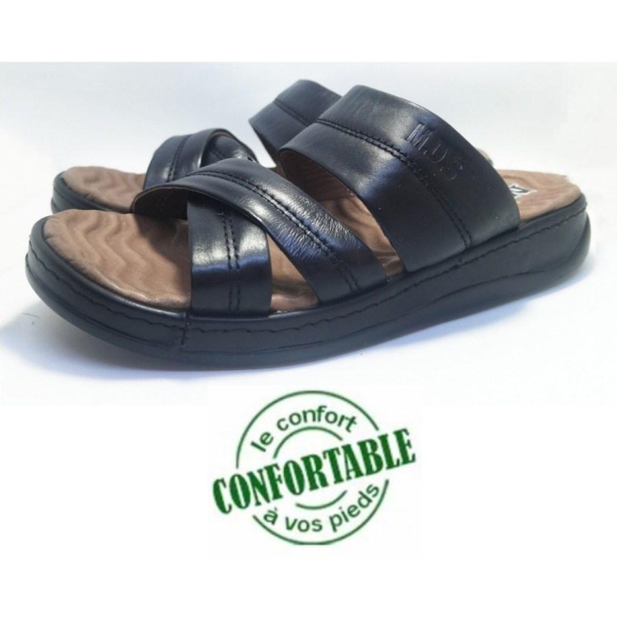 sandale médical REPOLDERZ noir pour homme