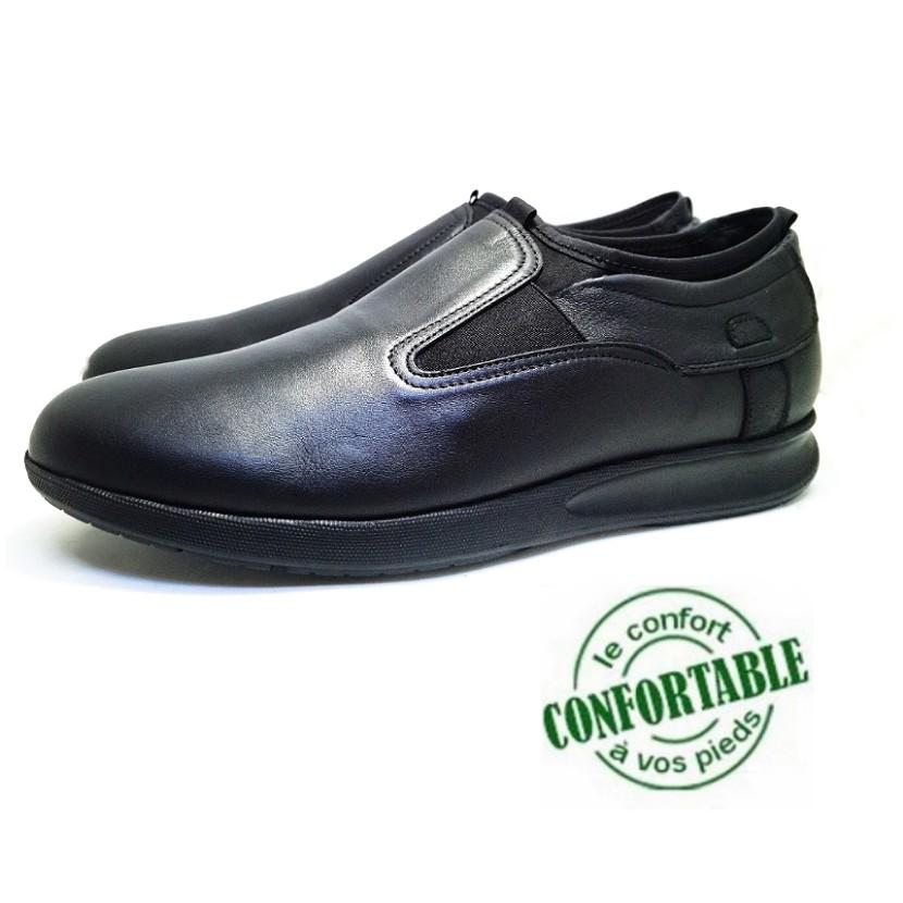 Chaussure médical WIZTOLLE-Confort pour homme noir