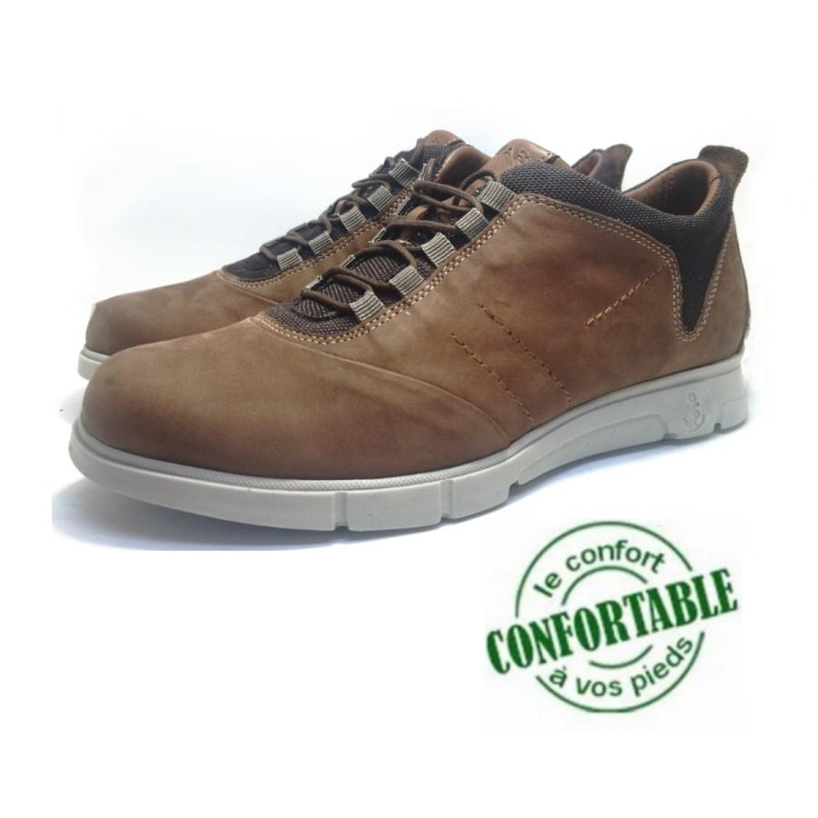Chaussure de ville Clow-Confort pour homme camel