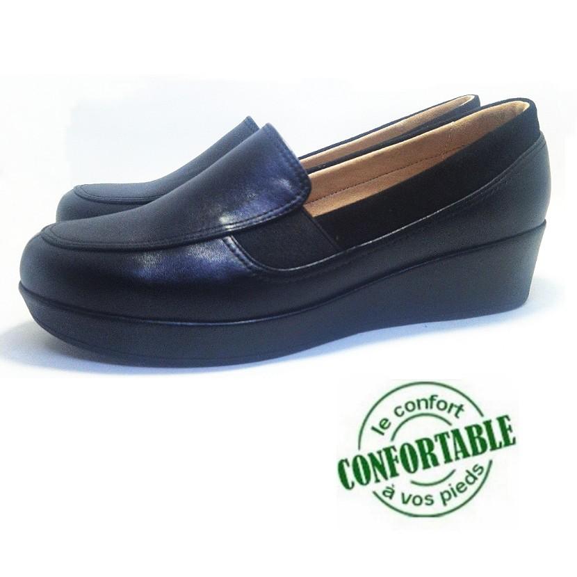 Chaussure femme compensée pour femme ACIOFE couleur noir