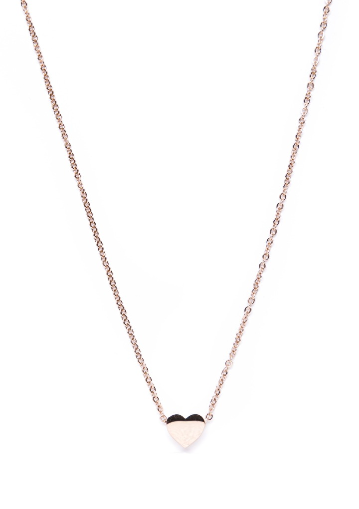 Rose Gold Sweetheart Delicate Pendant Necklace  Happiness
