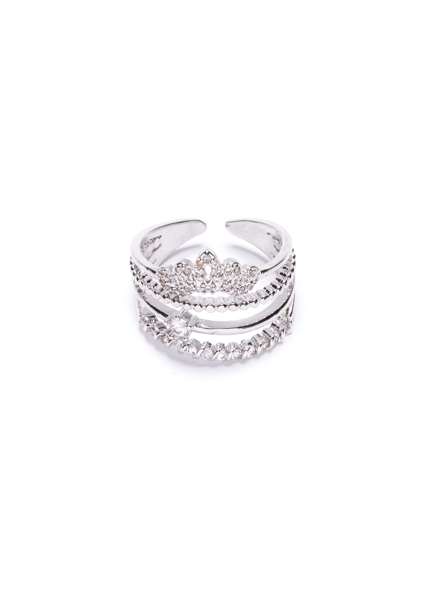 Knigin Krone Ring in Silber  Happiness Boutique