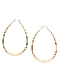 Oval Hoop Earrings Gold - Happiness Boutique