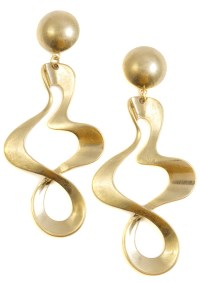 Twisted Hoop Earrings Gold - Happiness Boutique
