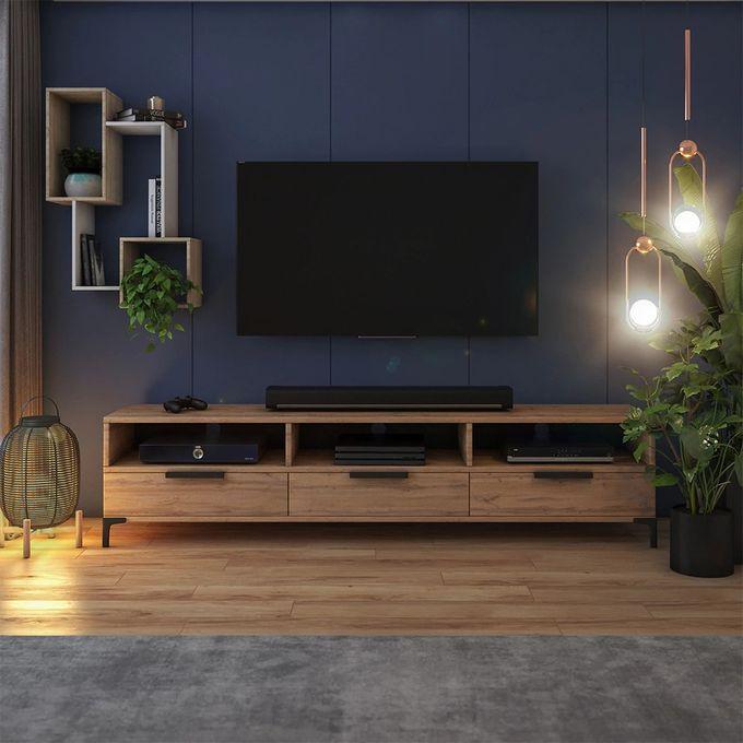 meuble tv banc tv chene wotan 160 cm