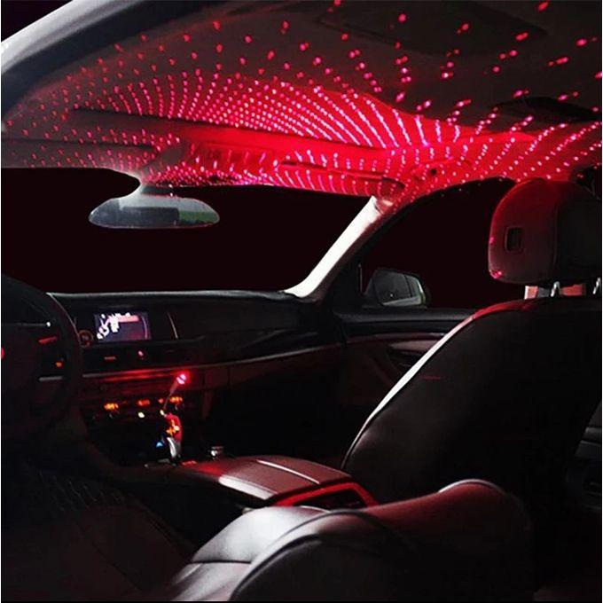 1pc mini led voiture toit etoile veilleuses projecteur lumiere interieur ambiant nuit etoile ciel usb led lumieres decoratives