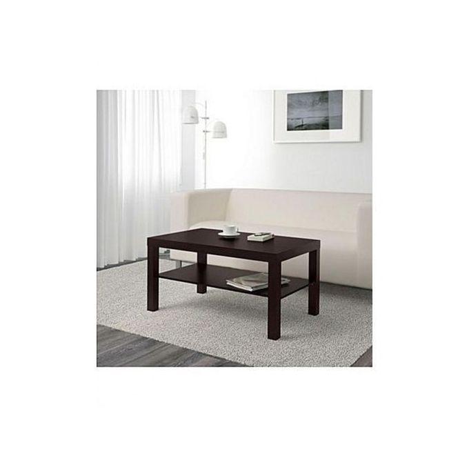table basse noir brun 90x55cm