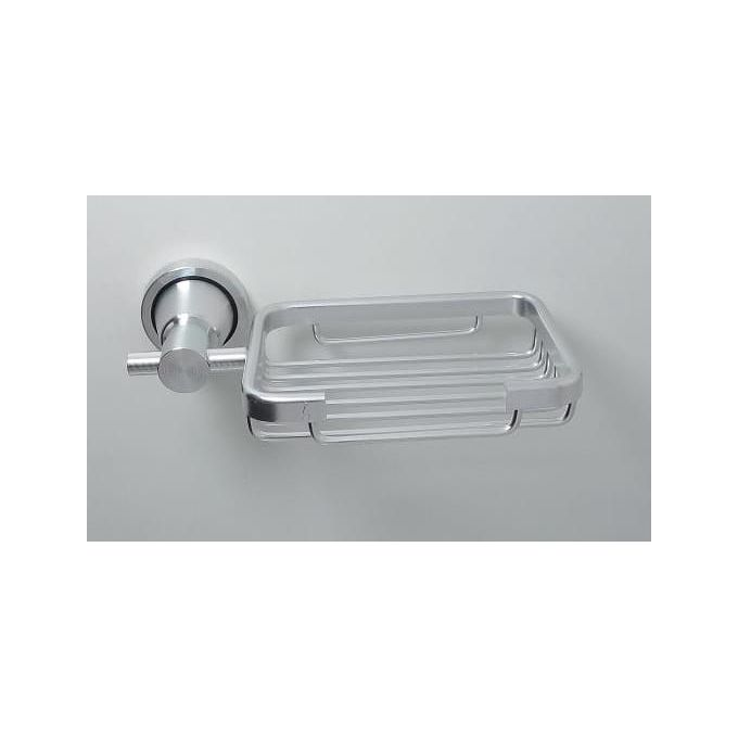 porte savon elegante et moderne en acier inoxydable chrome