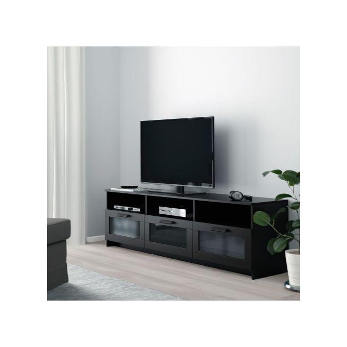 meuble tv brimns noir 180 x 41 x 53 cm