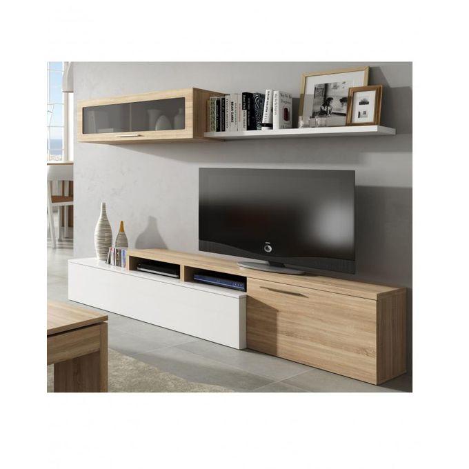 nexus meuble tv chene blanc