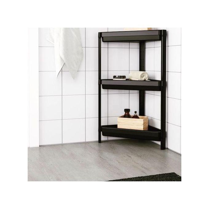 etagere de coin robuste 33x33x71 rangement multifonction salle bain salon sejour