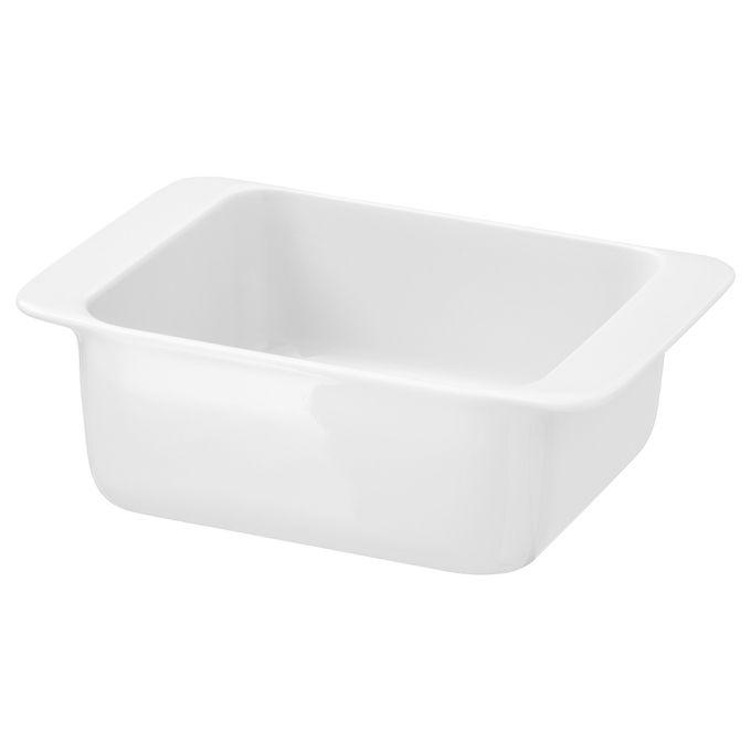 plat a four en porcelaine feldspathique blanc 18 x 13 cm