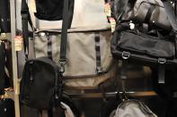 Bags in Muji store