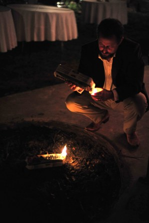 Walt's Dad start a fire