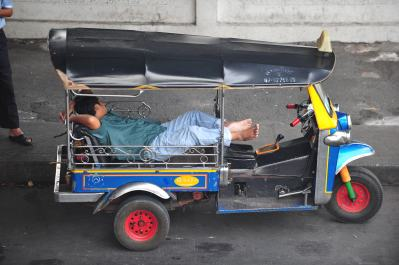 Sleeping in a tuk-tuk1 Comment