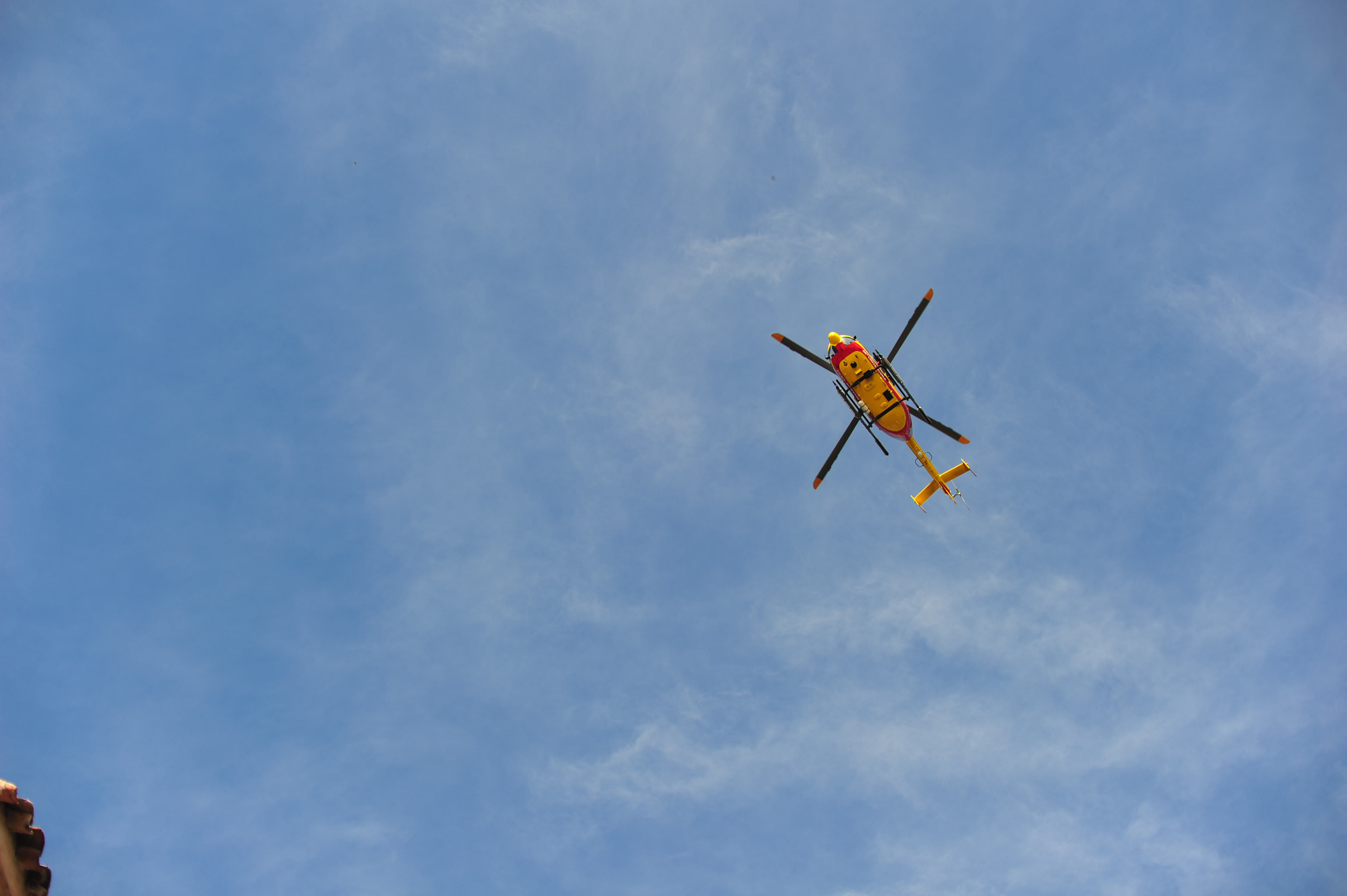 Helicopter overhead