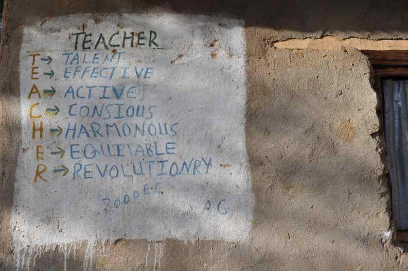 Teacher: talent, effective, active, conscious, harmonious, equitable, revolutionary