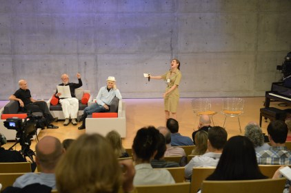 Jeffrey Katzenberg, Richard Saul Wurman, Norman Lear, Charity Tillemann-Dick